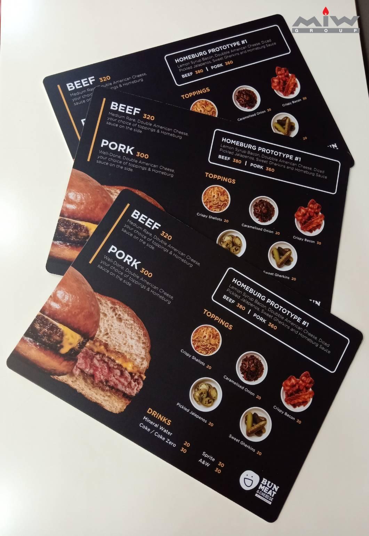 0608 - งานเมนูอาหารร้าน Bun Meat & Cheese