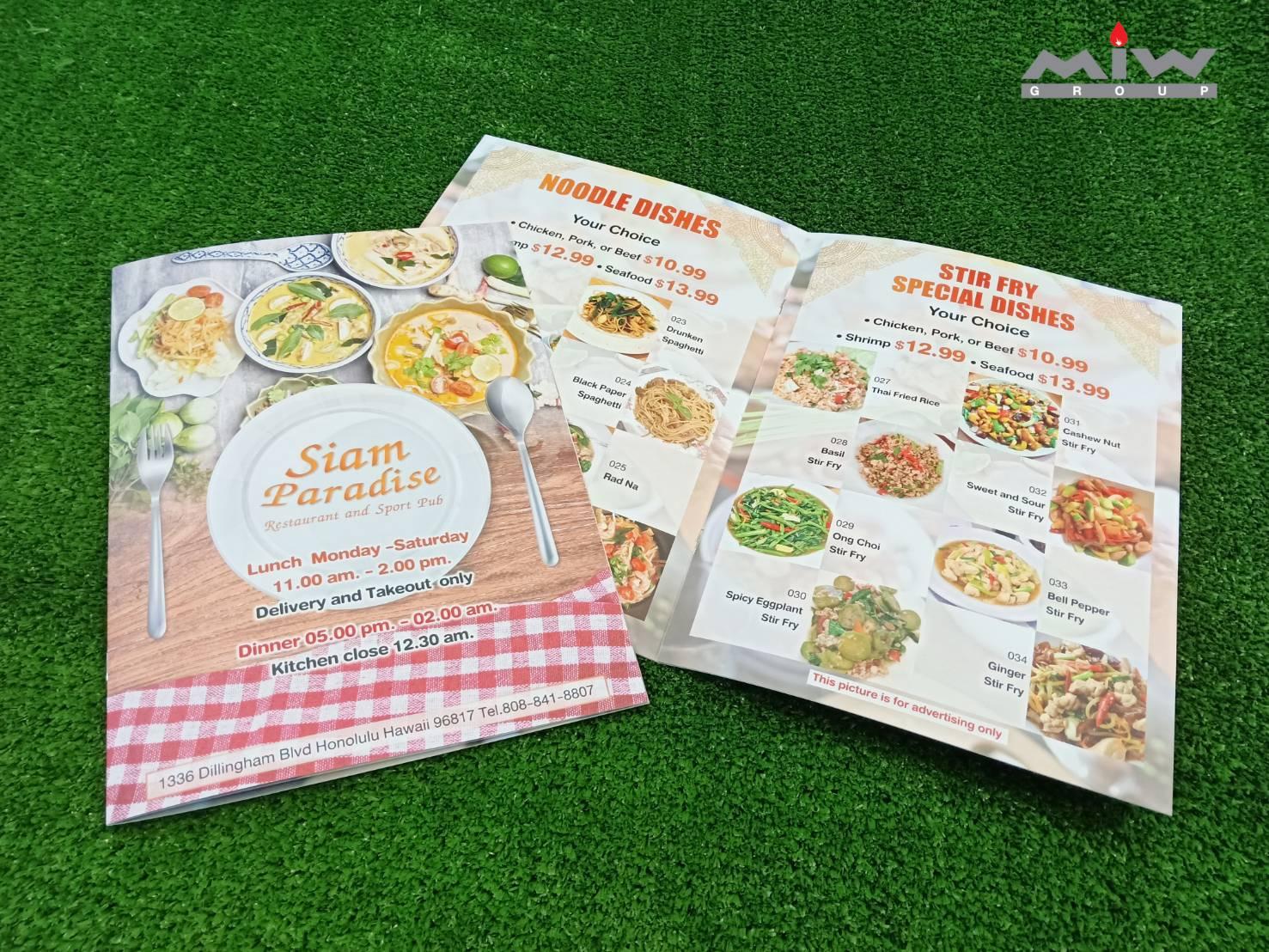 11 - งานเมนูอาหาร Siam Paradise