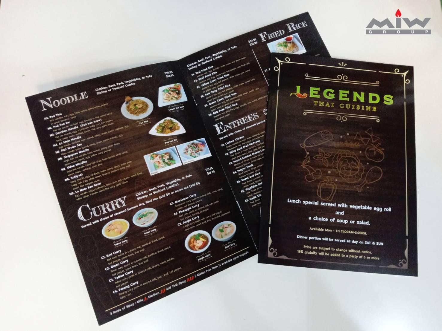 24.10 - งาน Set เมนูอาหารร้าน Legends Thai Cuisine