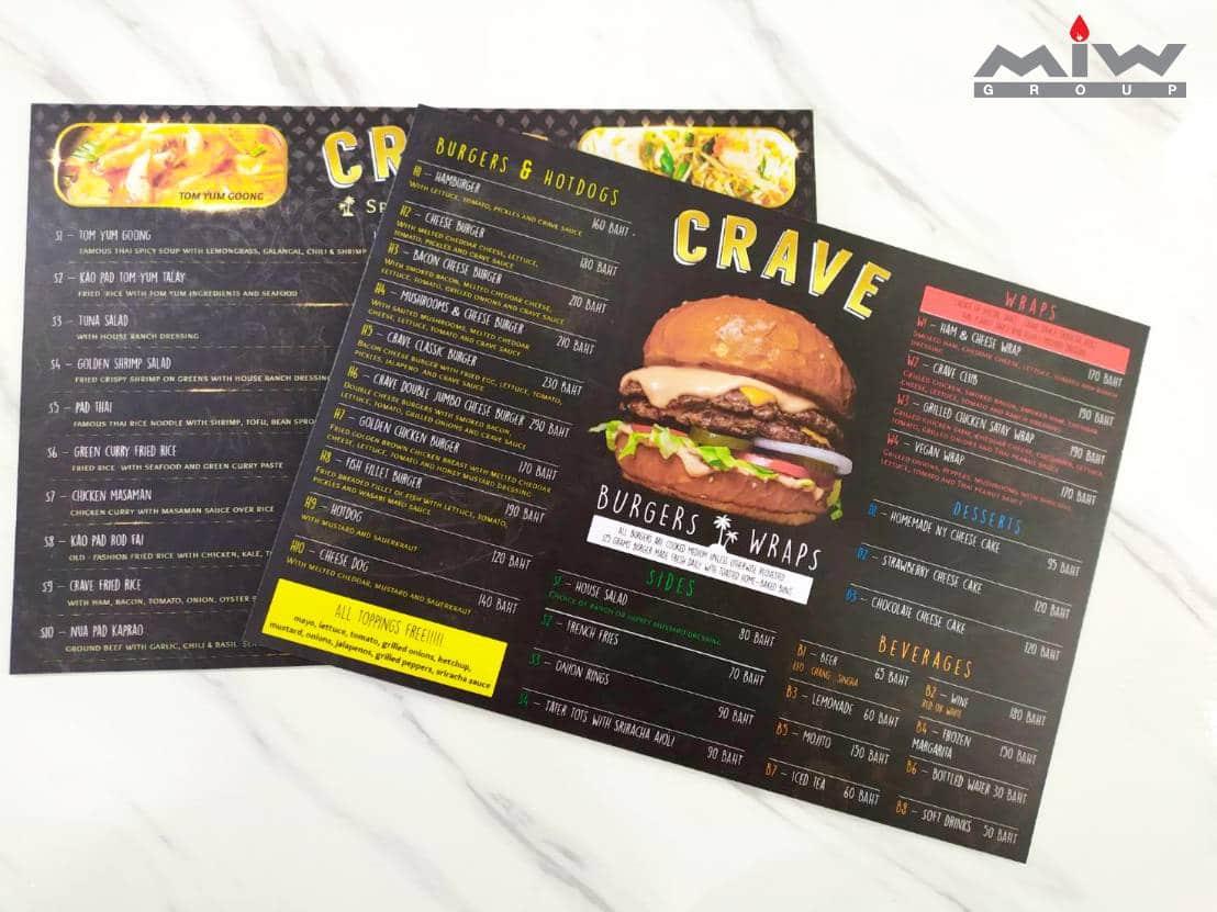 10.01 - งานเมนูอาหารร้าน CRAVE
