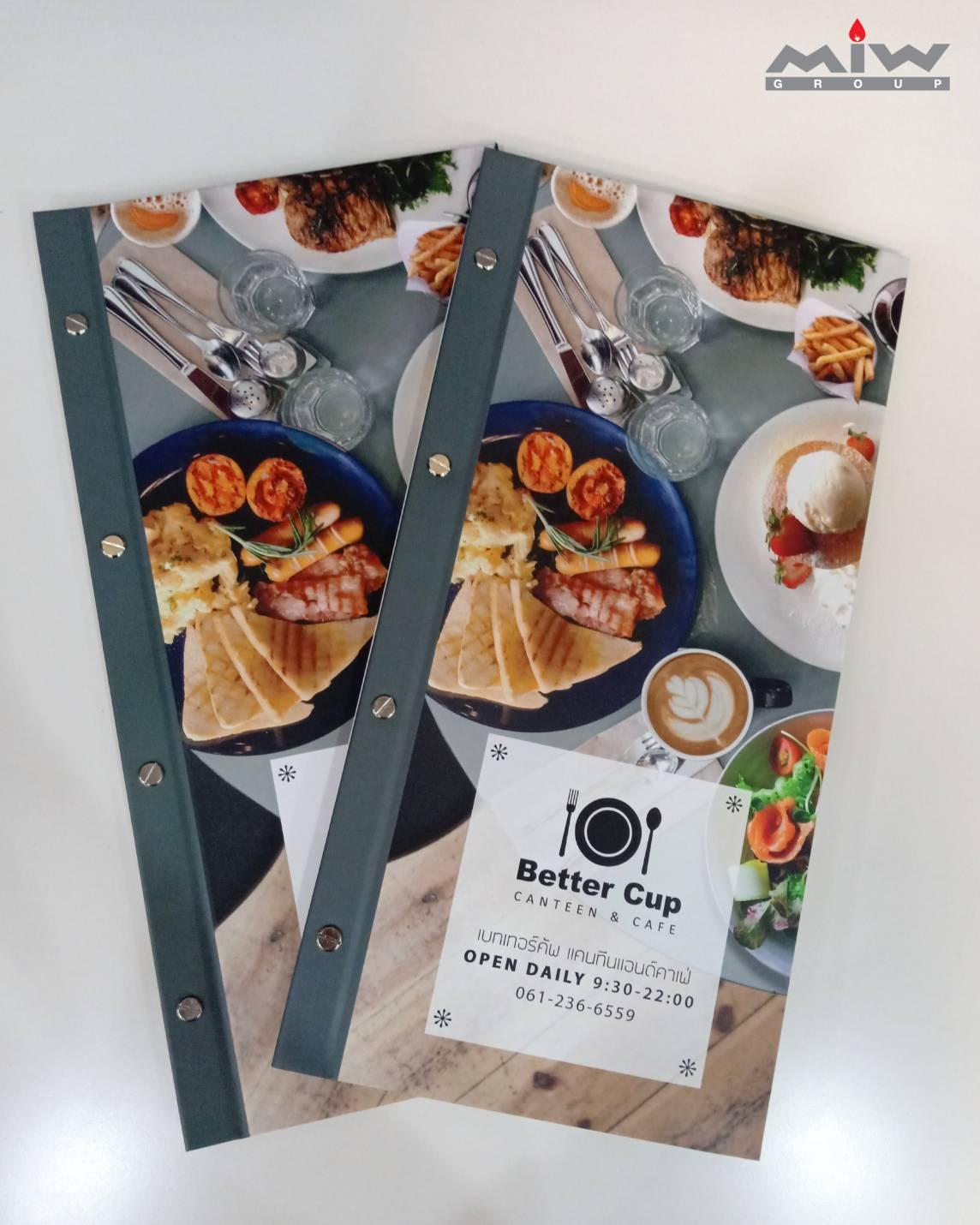 233067 - งานเมนูอาหาร Better Cup Canteen & Cafe