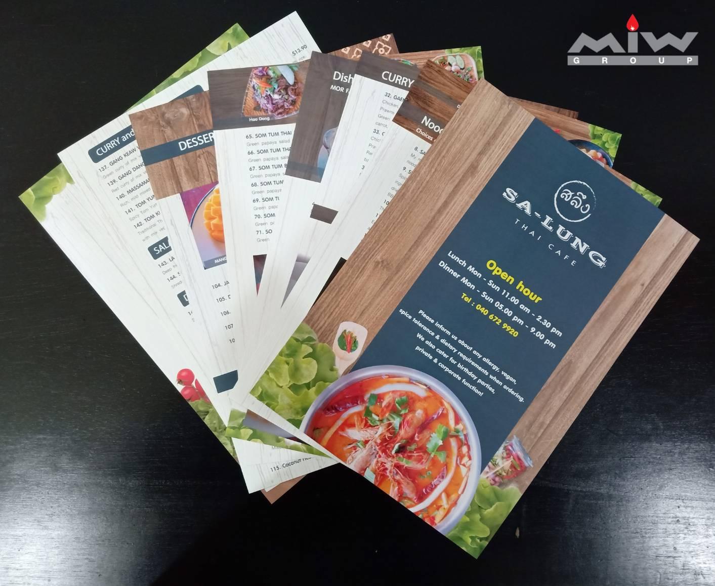 241268 - งานเมนูอาหารร้าน Sa-Lung Thai Cafe