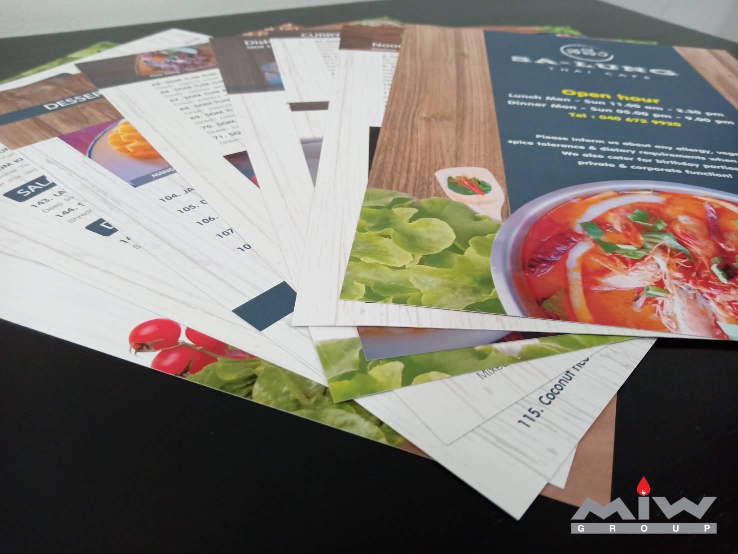 241269 - งานเมนูอาหารร้าน Sa-Lung Thai Cafe