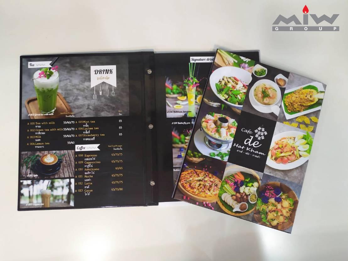 301329 - งานเมนูอาหารร้าน คาเฟ่เด้อหาดคำ