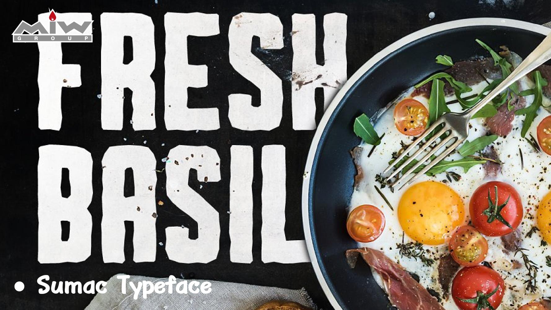 Font Sumac Typeface - 7 ฟอนต์สวย ๆ น่ารัก ๆ ที่ช่วยให้อาหารน่าทานยิ่งขึ้น